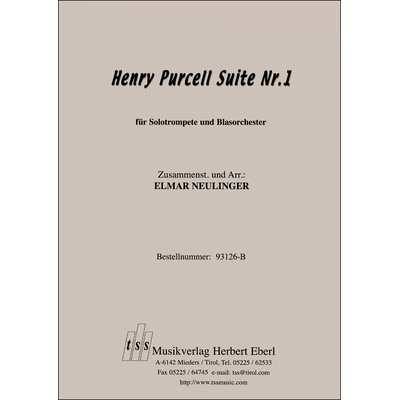 Henry Purcell Suite Nr. 1